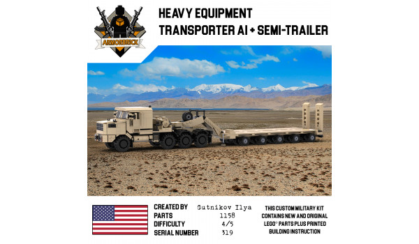 Heavy Equipment Transporter A1 & Semi-Trailer