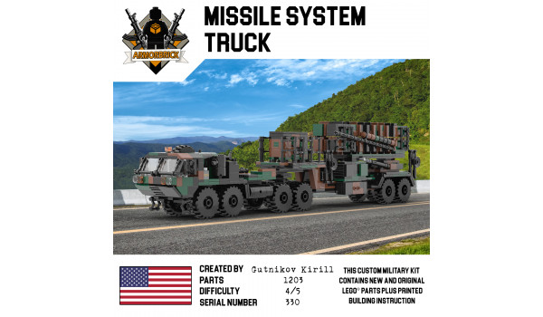 Missile System Truck Camo